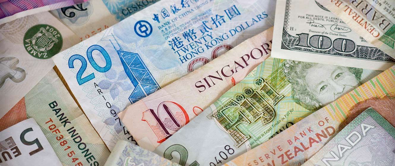 Image of foreign currencies