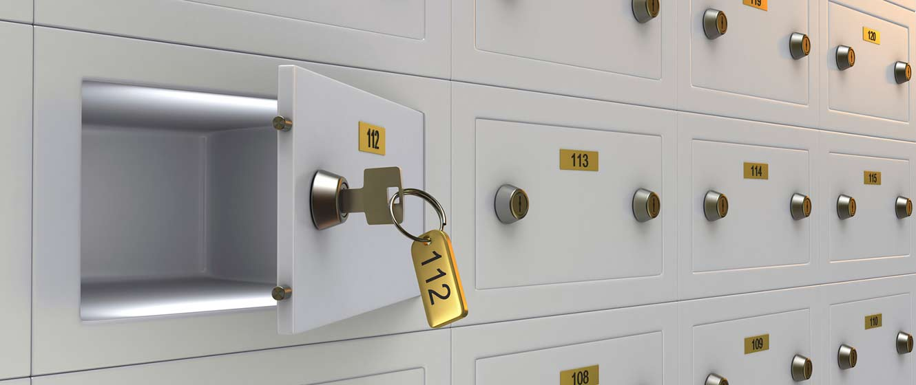 Image of locker, safe deposit boxes